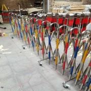 不锈钢伸缩围栏 可移动折叠施工隔离栏 幼儿园围挡