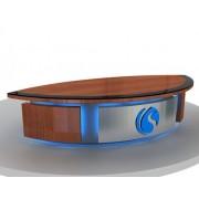 高质量演播室演播桌,电视台播音桌厂家定制
