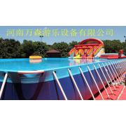 支架游泳池支架水池移动水上乐园充气水滑梯