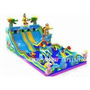 佛山充气大型蹦蹦床出租新款海盗船玩具大型气垫玩具租赁