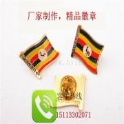 乌干达国旗徽章、世界各国国旗徽章生产定制