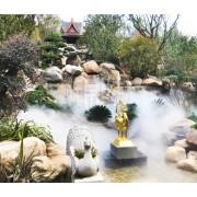 陕西人造雾景观-喷雾除降温尘造景-水雾消毒设备