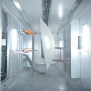 卫星天线通讯器材 通讯设备静电喷塑喷粉生产线