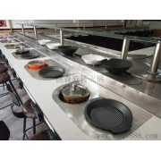 批发价销售旋转火锅餐桌 回转火锅设备 涮烤转转火锅设备