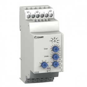 CROUZET过压监控继电器,欠压,2NO/NF,三相