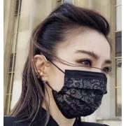 福建泉州供应黑色蕾丝纺黏无纺布 规格克重可定制