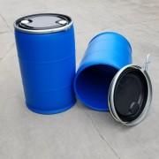 美式法兰桶200L塑料桶200升塑料桶开口双环包箍桶厂家
