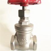 厂家直供不锈钢304/316手动内螺纹闸阀