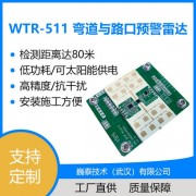 WTR-511弯道与路口预警雷达【低功耗/易安装/可定制】