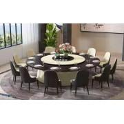 新中式实木电动餐桌椅 酒店电动餐桌 电动餐台 电动大圆桌