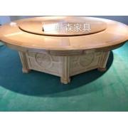 樵森厂家定制 各种款式电动餐桌 新中式大圆桌 酒店电动餐桌