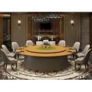 电动大理石餐桌 新中式电动餐桌 饭店餐桌椅 酒店自动大圆桌