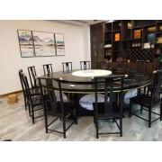 定制加工 自动转盘餐桌 酒店圆桌 雕花电动餐桌 电动火锅桌