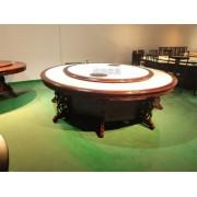 欧式雕花餐桌 现代实木雕花电动餐桌 电动餐桌